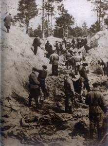 Excavation of Katyn Forest mass graves